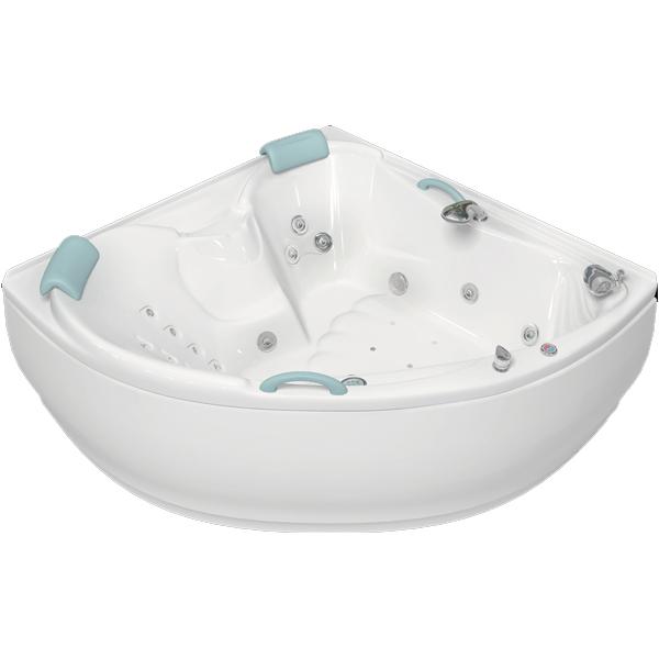 Лора 150x150 с гидромассажемВанны<br>Акриловая ванна Bellrado Лора 150х150х70 см в форме четверти круга, армированная.<br>Ванна изготовлена из литьевого акрила, литой лист толщиной 5 мм, и усилена стекловолокном с полиэфирными смолами. Толщина стенок – 6-7 мм. Усиливающие дно и места крепления корпуса элементы, толщина – 22-24 мм. Лицевой слой – акрил ПММА, устойчив к царапинам, УФ лучам, коррозийному и химическому воздействию, долго сохраняет блеск.<br>Цвет чаши ванны: чистый холодный белый. <br>Ванна Лора прекрасно подойдет для ванных комнат стандартного размера.В данную комплектацию входит 7 гидромассажных джет. Расположение форсунок выверено с анатомической точки зрения. Джеты регулируются по направлению и силе массажной струи, а также по количеству воздуха (чем больше воздуха в струе, тем она шире и мощнее). Таким образом, гидромассаж можно настроить индивидуально. Благодаря креплению двигателя к подставке ванны с помощью амортизаторов, снижающих шум и вибрацию, гидромассаж работает практически беззвучно.<br>В комплекте поставки:<br>акриловая чаша ванны<br>стальной каркас – надежная конструкция, профиль 25х25, толщина 1,5 см, порошковое напыление, не поддается коррозии<br>слив-перелив Vega полуавтомат7 гидромассажных джет Sirem (Франция) с мощностью 900 Вт.<br>8 микроджет для спинного массажа (система Турбопул)<br>Уход: с использованием безабразивных мягких средств. <br>Данная ванна реставрируема (из ремонтнопригодного материала).<br>