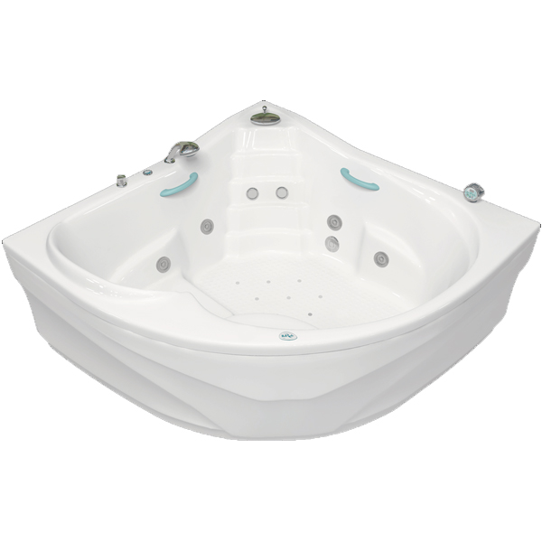 Виктория 165x165 с гидромассажемВанны<br>Акриловая ванна Bellrado Виктория 164,5х164,5х80 см в форме четверти круга, армированная.<br>Ванна изготовлена из литьевого акрила, литой лист толщиной 6 мм, и усилена стекловолокном с полиэфирными смолами. Толщина стенок – 6-7 мм. Усиливающие дно и места крепления корпуса элементы, толщина – 22-24 мм. Лицевой слой – акрил ПММА, устойчив к царапинам, УФ лучам, коррозийному и химическому воздействию, долго сохраняет блеск.<br>Цвет чаши ванны: чистый холодный белый. <br>Ванна Виктория прекрасно подойдет для больших ванных комнат.В данную комплектацию входит 6 гидромассажных джет. Расположение форсунок выверено с анатомической точки зрения. Джеты регулируются по направлению и силе массажной струи, а также по количеству воздуха (чем больше воздуха в струе, тем она шире и мощнее). Таким образом, гидромассаж можно настроить индивидуально. Благодаря креплению двигателя к подставке ванны с помощью амортизаторов, снижающих шум и вибрацию, гидромассаж работает практически беззвучно.<br>В комплекте поставки:<br>акриловая чаша ванны<br>стальной каркас – надежная конструкция, профиль 25х25, толщина 1,5 см, порошковое напыление, не поддается коррозии<br>слив-перелив Vega полуавтомат6 гидромассажных джет Sirem (Франция) с мощностью 900 Вт.<br>8 микроджет для спинного массажа (система Турбопул)<br>Уход: с использованием безабразивных мягких средств. <br>Данная ванна реставрируема (из ремонтнопригодного материала).<br>