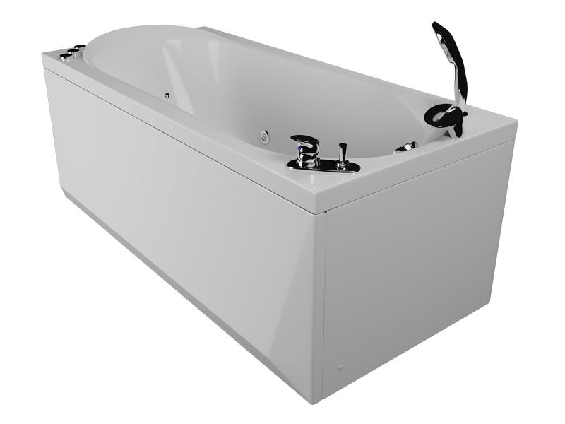 Юниор СенсаВанны<br>Акриловая ванна Aquatika Юниор. В комплекте: чаша ванны, жесткая рама - каркас, гидромассаж (сенсорное управление, 6 форсунок), аэромассаж (10 форсунок), спинной массаж (12 форсунок), слив-перелив, МП-Релакс.<br>