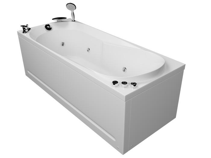 Астра БазикВанны<br>Акриловая ванна Aquatika Астра. В комплекте: гидромассаж (пневматическое управление, 6 форсунок), слив-перелив.<br>