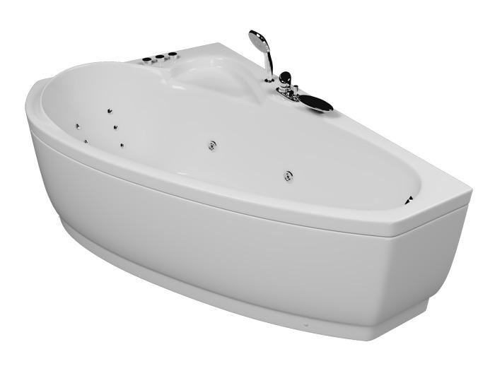 Логика БазикВанны<br>Акриловая ванна Aquatika Логика. В комплекте: гидромассаж (пневматическое управление, 6 форсунок), каркас, слив-перелив.<br>
