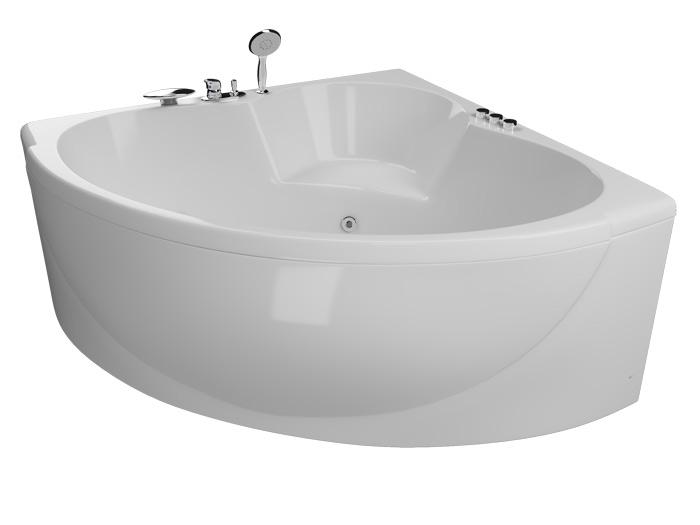 Эпюра Без гидромассажаВанны<br>Акриловая ванна Aquatika Эпюра со сливом-переливом.<br>
