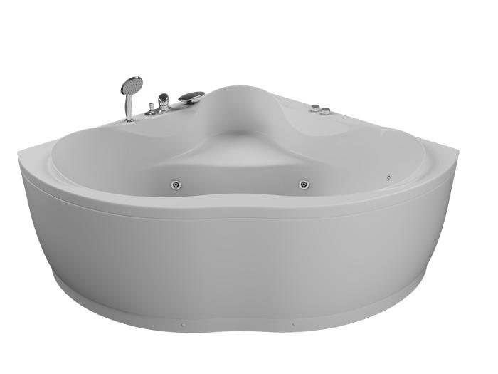 Кворум 143x143 БазикВанны<br>Акриловая ванна Aquatika Кворум. В комплекте: чаша ванны, жесткая рама - каркас, гидромассаж (пневматическое управление, 6 форсунок), слив-перелив.<br>