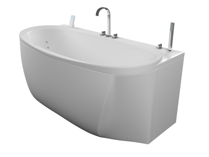 Ренессанс БазикВанны<br>Акриловая ванна Aquatika Ренессанс в комплектации Базик включает в себя: гидромассаж (пневматическое управление 6 форсунок), слив перелив. Фронтальная панель приобретается отдельно.<br>
