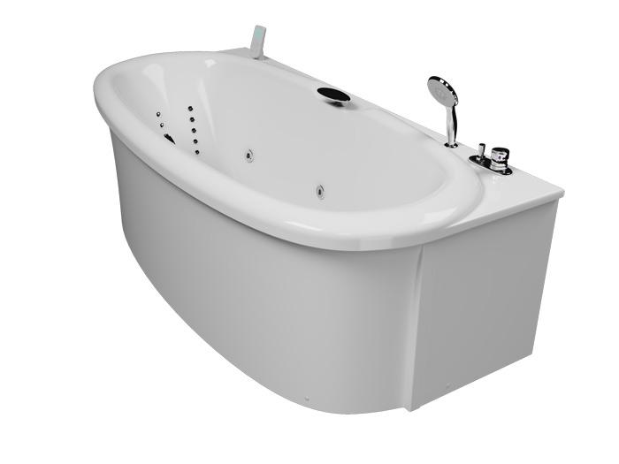 Скульптура Без гидромассажаВанны<br>Акриловая ванна Aquatika Скульптура со сливом переливом, без гидромассажа и фронтальной панели.<br>