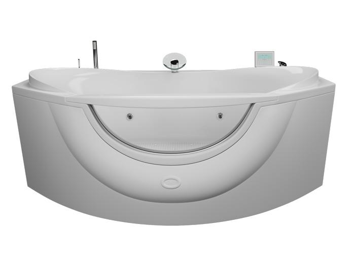 Акварама БазикВанны<br>Акриловая ванна Aquatika Акварама в комплектации Базик включает в себя: гидромассаж (пневматическое управление 8 форсунок), слив перелив. Фронтальная панель приобретается отдельно.<br>