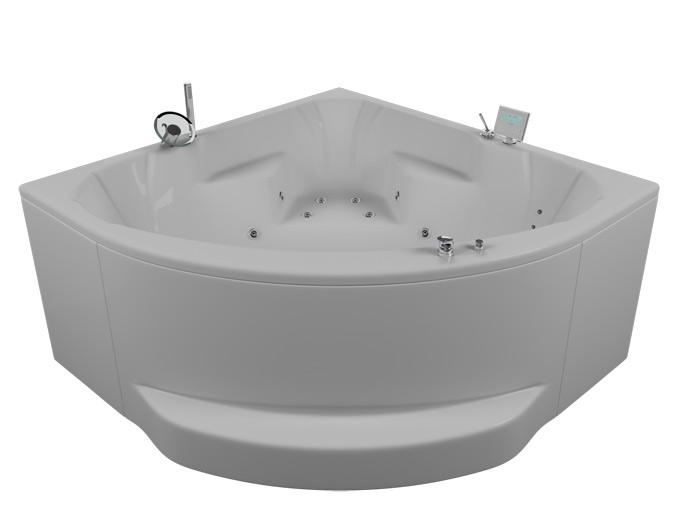 Максима 3DВанны<br>Акриловая ванна Aquatika Максима. В комплекте: гидромассаж (электронное управление, 8 форсунок), аэромассаж (12 форсунок), слив-перелив.<br>