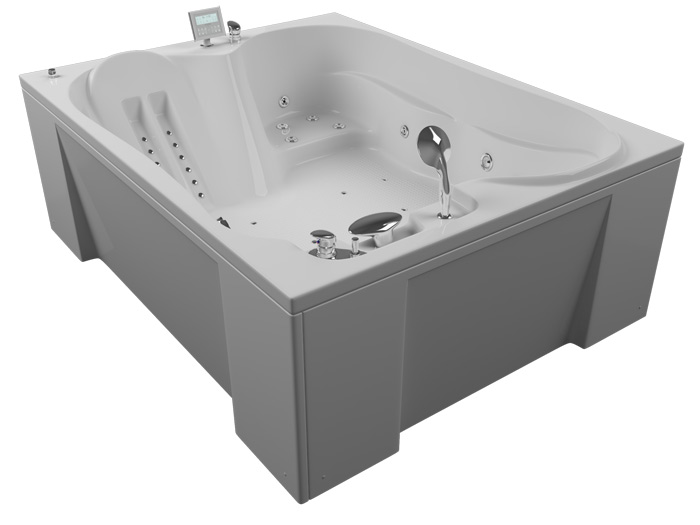 Токио 3DВанны<br>Акриловая ванна Aquatika Токио. В комплекте: гидромассаж (электронное управление, 8 форсунок), аэромассаж (12 форсунок), слив-перелив.<br>