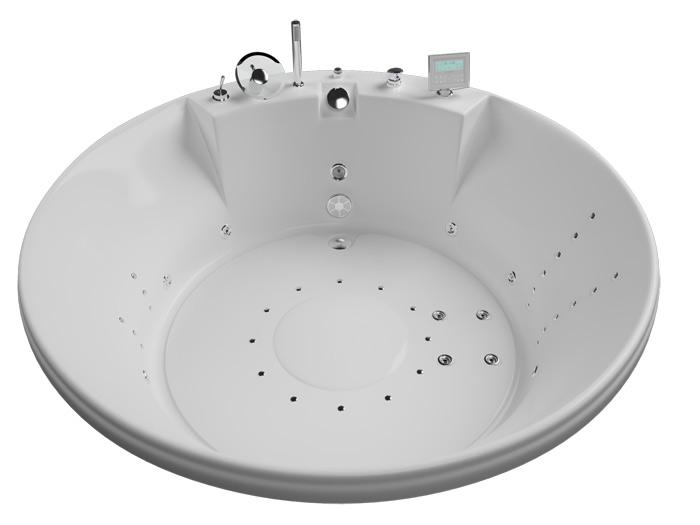 Арена БазикВанны<br>Акриловая ванна Aquatika Арена. В комплекте: гидромассаж (пневматическое управление 8 форсунок), слив-перелив.<br>