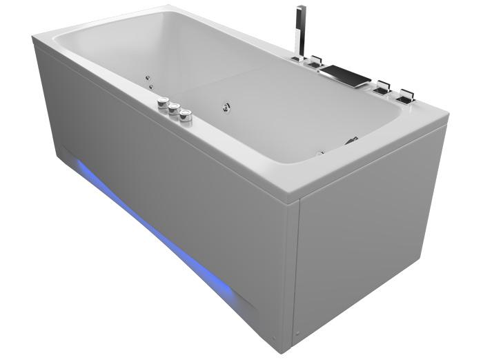 Авентура 160 БазикВанны<br>Акриловая ванна Aquatika Авентура в комплектации Базик включает в себя: гидромассаж (пневматическое управление 6 форсунок), слив перелив. Фронтальная панель приобретается отдельно.<br>