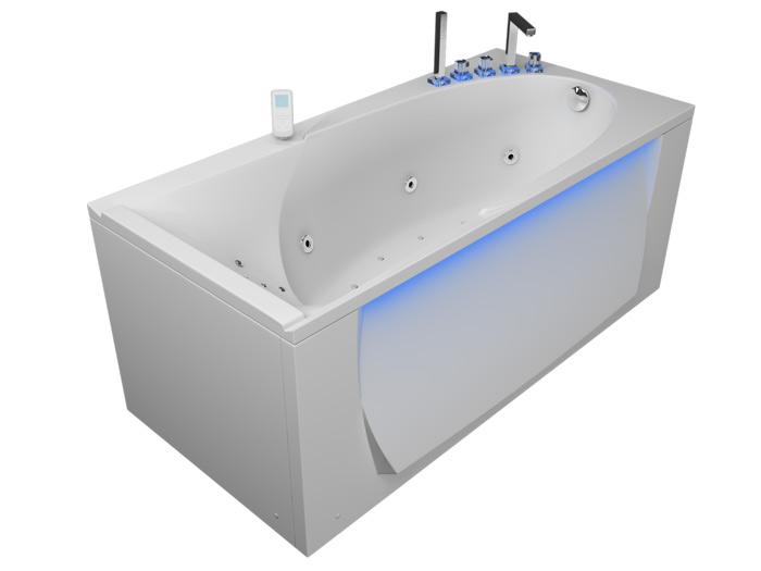 Кинетика РефлексаВанны<br>Акрилова ванна Aquatika Кинетика. В комплекте: гидромассаж (сенсорное управление, 6 форсунок), аромассаж (10 форсунок), спинной массаж (12 форсунок), слив-перелив, МП-Релакс.<br>