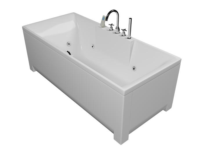 Минима БазикВанны<br>Акриловая ванна Aquatika Минима. В комплекте: гидромассаж (пневматическое управление, 6 форсунок), слив-перелив.<br>