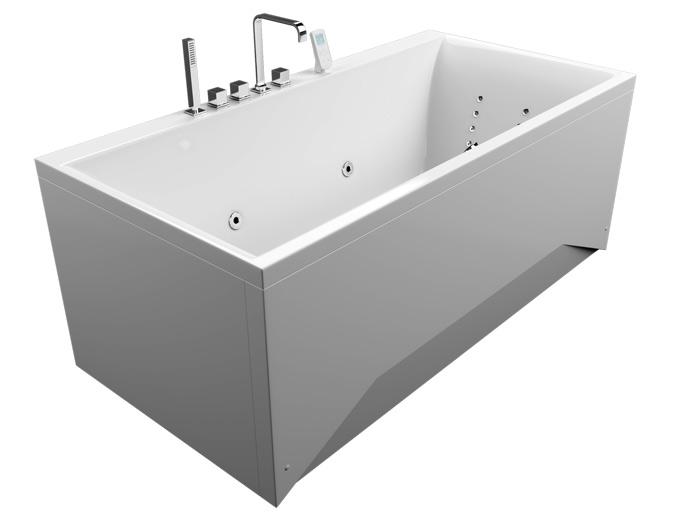 Армада БазикВанны<br>Акриловая ванна Aquatika Армада. В комплекте: гидромассаж (пневматическое управление, 6 форсунок), слив-перелив.<br>