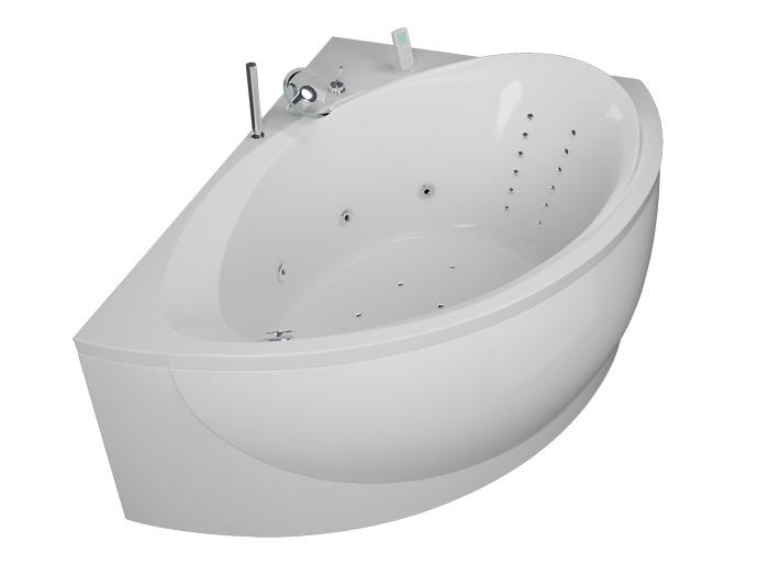 Альтернатива РефлексаВанны<br>Акриловая ванна Aquatika Альтернатива в комплектации Рефлекса включает в себя: гидромассаж (сенсорное управление, 6 форсунок), аэромассаж (10 форсунок), спиной массаж (12 форсунок), слив перелив, МП-Релакс. Фронтальная панель приобретается отдельно.<br>