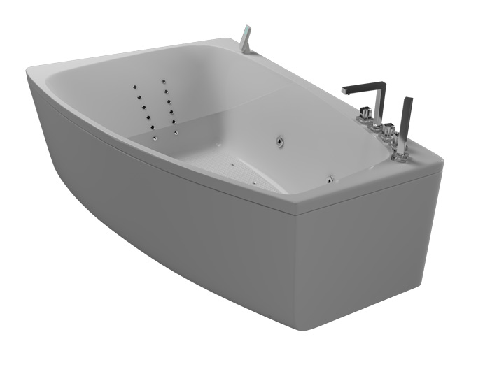 Альтея РефлексаВанны<br>Акриловая ванна Aquatika Альтея. В комплекте: гидромассаж (сенсорное управление, 6 форсунок), аэромассаж (10 форсунок), спинной массаж (12 форсунок), слив-перелив, МП-Релакс.<br>