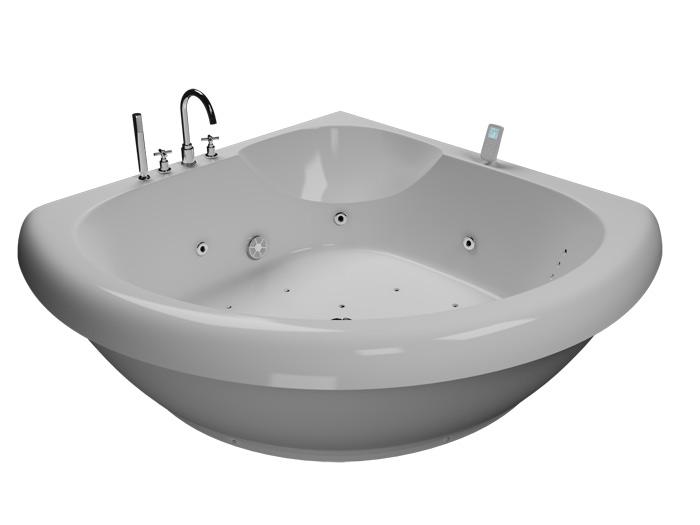 Тема 140 Без гидромассажаВанны<br>Акриловая ванна Aquatika Тема со сливом-переливом.<br>