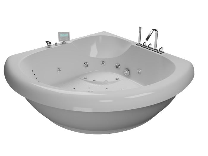 Тема 150 РефлексаВанны<br>Акриловая ванна Aquatika Тема 150. В комплекте: гидромассаж (сенсорное управление, 6 форсунок), аэромассаж (10 форсунок), спинной массаж (12 форсунок), слив-перелив, МП-Релакс.<br>