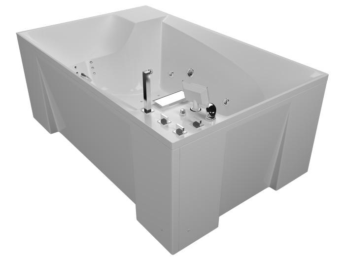Архитектура БазикВанны<br>Акриловая ванна Aquatika Архитектура в комплектации Базик включает в себя: гидромассаж (пневматическое управление 6 форсунок), слив перелив. Фронтальная панель приобретается отдельно.<br>