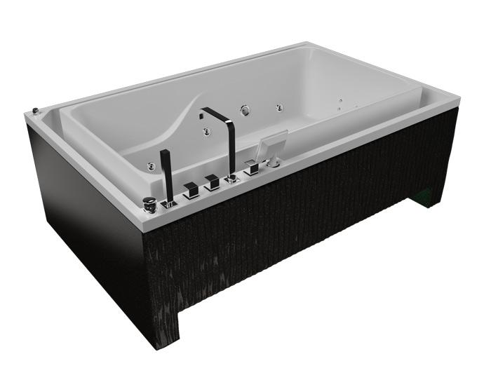 Гидра 3DВанны<br>Акриловая ванна Aquatika Гидра в комплектации 3 D включает в себя  гидромассаж (электронное управление, 6 форсунок), аэромассаж (12 форсунок), слив-перелив. Фронтальная панель приобретается отдельно.<br>
