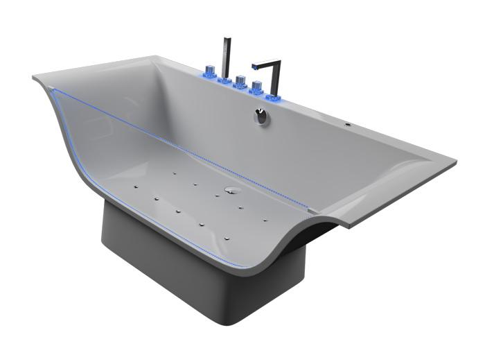 Плазма Без гидромассажаВанны<br>Монолитная ванна Aquatika Плазма на жесткой раме-каркасе со сливом-переливом.<br>