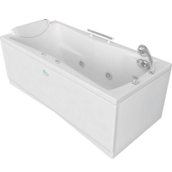Доминик 160x75 с гидромассажемВанны<br>Акриловая ванна Bellrado Доминик 160x75x66,5 см прямоугольная, армированная.<br>Ванна изготовлена из литьевого акрила, литой лист толщиной 5 мм, и усилена стекловолокном с полиэфирными смолами. Толщина стенок – 6-7 мм. Усиливающие дно и места крепления корпуса элементы, толщина – 22-24 мм. Лицевой слой – акрил ПММА, устойчив к царапинам, УФ лучам, коррозийному и химическому воздействию, долго сохраняет блеск.<br>Цвет чаши ванны: чистый холодный белый. <br>Ванна Доминик - это оптимальная модель акриловой ванны. Она прекрасно подойдет для маленькой ванной комнаты.<br>В данную комплектацию входит 5 гидромассажных джет. Расположение форсунок выверено с анатомической точки зрения. Джеты регулируются по направлению и силе массажной струи, а также по количеству воздуха (чем больше воздуха в струе, тем она шире и мощнее). Таким образом, гидромассаж можно настроить индивидуально. Благодаря креплению двигателя к подставке ванны с помощью амортизаторов, снижающих шум и вибрацию, гидромассаж работает практически беззвучно.<br>В комплекте поставки:<br>акриловая чаша ванны<br>стальной каркас – надежная конструкция, профиль 25х25, толщина 1,5 см, порошковое напыление, не поддается коррозии<br>слив-перелив Vega полуавтоматсиликоновый подголовник, 1 ручка <br>5 гидромассажных джет Sirem (Франция) с мощностью 900 Вт.<br>Уход: с использованием безабразивных мягких средств. Данная ванна реставрируема (из ремонтнопригодного материала).<br>