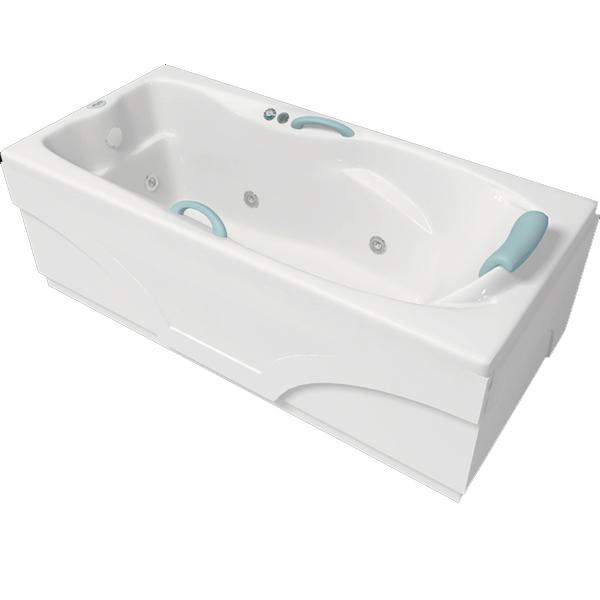 Кристи 171x80 с гидромассажемВанны<br>Акриловая ванна Bellrado Кристи 171x80.5x66 см прямоугольная, армированная.<br>Ванна изготовлена из литьевого акрила, литой лист толщиной 5 мм, и усилена стекловолокном с полиэфирными смолами. Толщина стенок – 6-7 мм. Усиливающие дно и места крепления корпуса элементы, толщина – 22-24 мм. Лицевой слой – акрил ПММА, устойчив к царапинам, УФ лучам, коррозийному и химическому воздействию, долго сохраняет блеск.<br>Цвет чаши ванны: чистый холодный белый. <br>Ванна Кристи - это оптимальная модель акриловой ванны. Она прекрасно подойдет для ванной комнаты стандартных размеров.В данную комплектацию входит 6 гидромассажных джет. Расположение форсунок выверено с анатомической точки зрения. Джеты регулируются по направлению и силе массажной струи, а также по количеству воздуха (чем больше воздуха в струе, тем она шире и мощнее). Таким образом, гидромассаж можно настроить индивидуально. Благодаря креплению двигателя к подставке ванны с помощью амортизаторов, снижающих шум и вибрацию, гидромассаж работает практически беззвучно.<br>В комплекте поставки:акриловая чаша ванныстальной каркас – надежная конструкция, профиль 25х25, толщина 1,5 см, порошковое напыление, не поддается коррозии<br>слив-перелив Vega полуавтомат6 гидромассажных джет Sirem (Франция) с мощностью 900 Вт.Уход: с использованием безабразивных мягких средств. Данная ванна реставрируема (из ремонтнопригодного материала).<br>