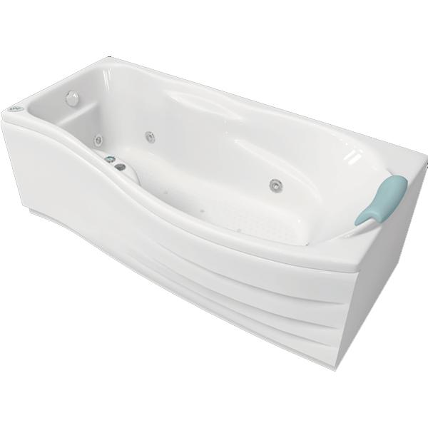Милен 170x88 с гидромассажем LВанны<br>Акриловая ванна Bellrado Милен 169.5x88.5x68 см прямоугольная, армированная.<br>Ванна изготовлена из литьевого акрила, литой лист толщиной 5 мм, и усилена стекловолокном с полиэфирными смолами. Толщина стенок – 6-7 мм. Усиливающие дно и места крепления корпуса элементы, толщина – 22-24 мм. Лицевой слой – акрил ПММА, устойчив к царапинам, УФ лучам, коррозийному и химическому воздействию, долго сохраняет блеск.<br>Цвет чаши ванны: чистый холодный белый. <br>Ванна Милен - это оптимальная модель акриловой ванны с интересным решением в виде изогнутого переднего борта. В данную комплектацию входит 6 гидромассажных джет. Расположение форсунок выверено с анатомической точки зрения. Джеты регулируются по направлению и силе массажной струи, а также по количеству воздуха (чем больше воздуха в струе, тем она шире и мощнее). Таким образом, гидромассаж можно настроить индивидуально. Благодаря креплению двигателя к подставке ванны с помощью амортизаторов, снижающих шум и вибрацию, гидромассаж работает практически беззвучно.<br>В комплекте поставки:<br>акриловая чаша ванныстальной каркас – надежная конструкция, профиль 25х25, толщина 1,5 см, порошковое напыление, не поддается коррозиислив-перелив Vega полуавтомат6 гидромассажных джет Sirem (Франция) с мощностью 900 Вт.Уход: с использованием безабразивных мягких средств. Данная ванна реставрируема (из ремонтнопригодного материала).Данная комплектация (левосторонняя) устанавливается в правый угол.<br>