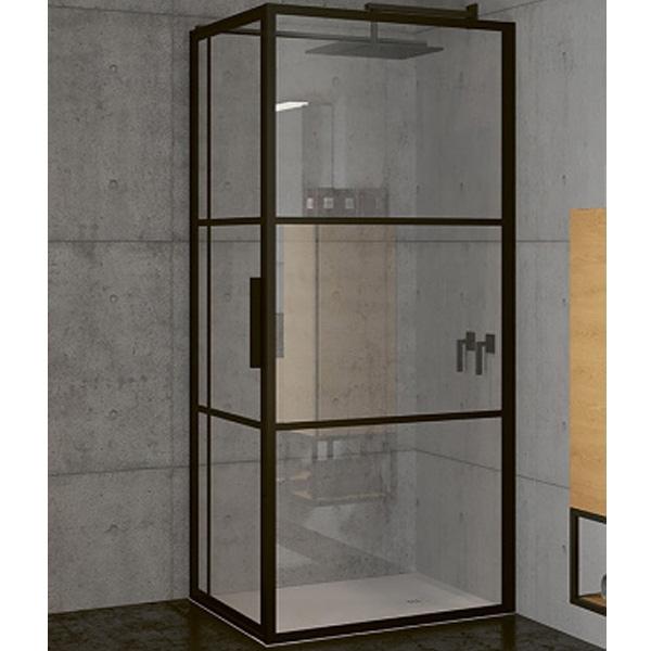 Душевой уголок Riho Grid 130x100 профиль Черный стекло прозрачное