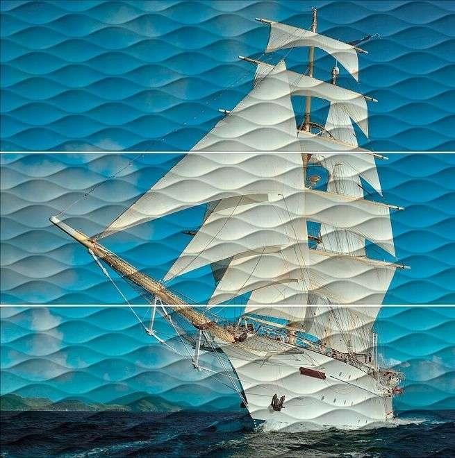 Керамическое панно Kerama Marazzi Майори Корабль ALD/A01/3x/13025R 89,5х90 см