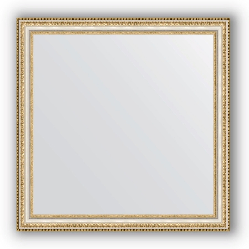 Зеркало Evoform Definite 75х75 Золотые бусы на серебре