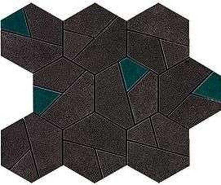 Керамическая мозаика Atlas Concorde Boost Tarmac Mosaico Hex Jade 25х28,5 см стоимость