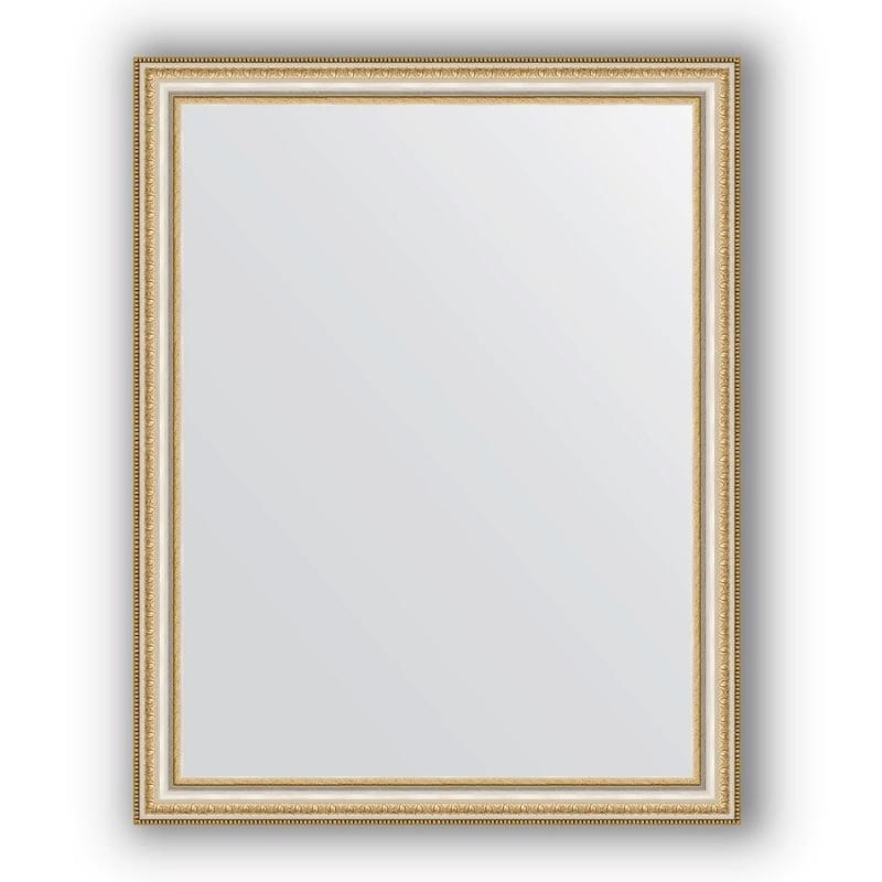 Зеркало Evoform Definite 95х75 Золотые бусы на серебре