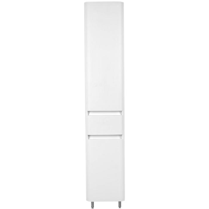 Шкаф пенал Style Line Атлантика Люкс Plus 35 ЛС-00000694 с бельевой корзиной Белый шкаф пенал style line эко стандарт 54 с бельевой корзиной белый