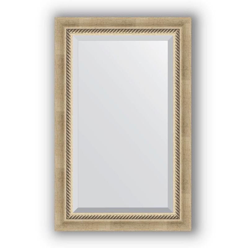 Зеркало Evoform Exclusive 83х53 Состаренное серебро с плетением зеркало evoform exclusive 133х53 состаренное серебро с плетением