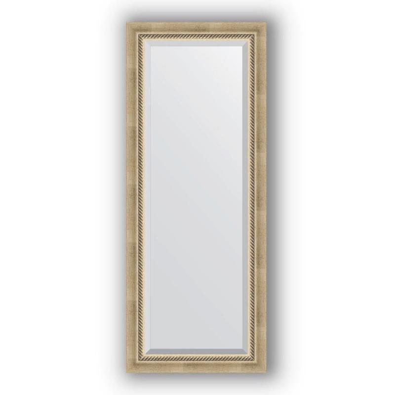 Зеркало Evoform Exclusive 133х53 Состаренное серебро с плетением зеркало evoform exclusive 133х53 состаренное бронза с плетением
