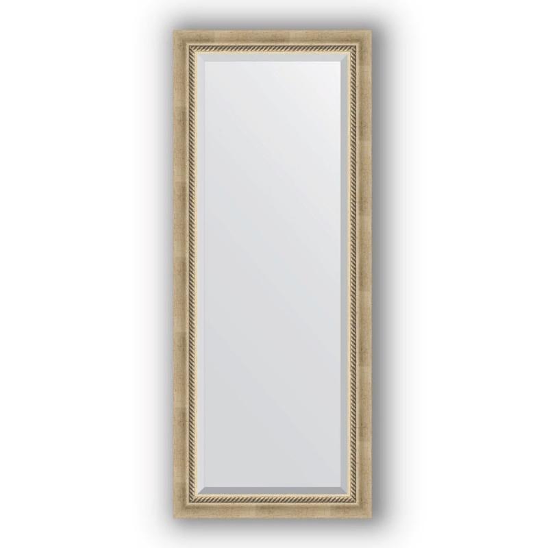 Зеркало Evoform Exclusive 143х58 Серебряный бамбук