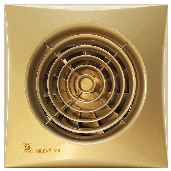 Вытяжной вентилятор Soler&Palau SILENT-100 CZ GOLD 8 Вт