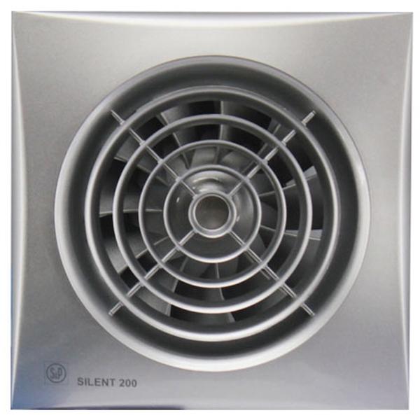 Вытяжной вентилятор Soler&Palau SILENT-200 CZ SILVER 16 Вт