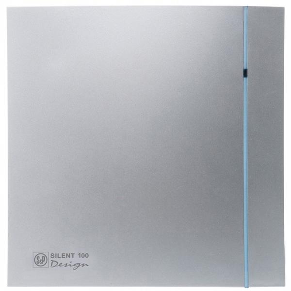 Вытяжной вентилятор Soler&Palau SILENT-100 CZ SILVER DESIGN 8 Вт