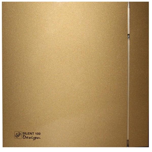 Вытяжной вентилятор Soler&Palau SILENT-100 CZ Gold Design 4C 8 Вт