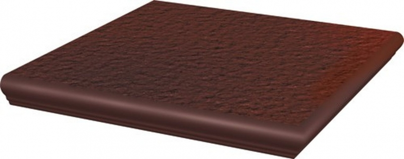 Ступень угловая Ceramika Paradyz Cloud Brown с носиком структурированная 33х33 см