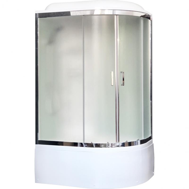 Душевая кабина Royal Bath ВК 120x80 RB8120BK3-WC-CH-L с гидромассажем стекло матовое задние стенки Белые душевая кабина royal bath вк 120x80 rb8120bk2 m ch r с гидромассажем стекло матовое задние стенки белые