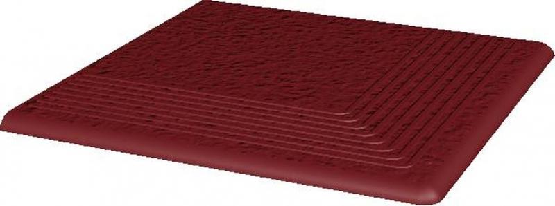 Ступень угловая Ceramika Paradyz Cloud Rosa Duro структурированная 30х30 см