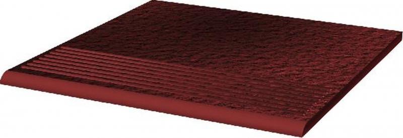 Ступень простая Ceramika Paradyz Cloud Rosa Duro структурированная 30х30 см