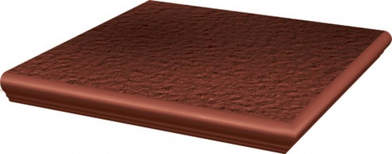 Ступень угловая Ceramika Paradyz Cloud Rosa с носиком структурированная 33х33 см