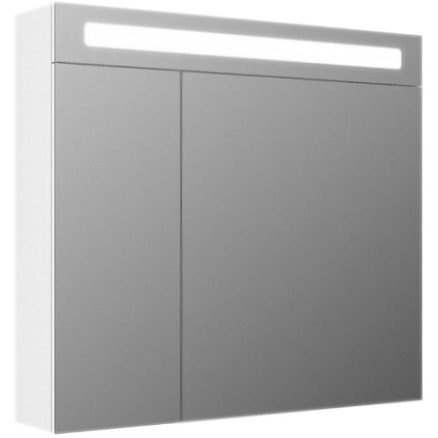 Зеркальный шкаф Iddis Mirro 80 с подсветкой 2 дверцы Белый