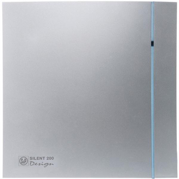 Вытяжной вентилятор Soler&Palau SILENT-200 CZ SILVER DESIGN-3C 16 Вт