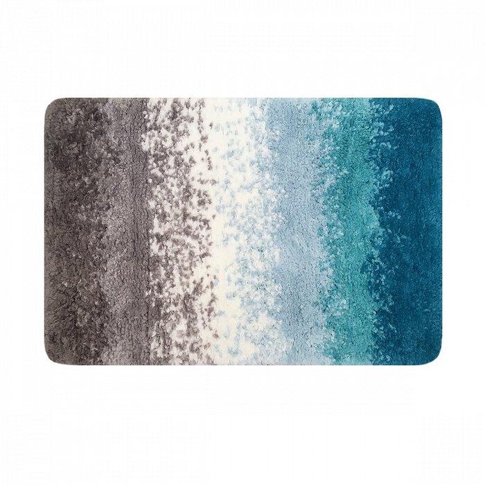 Фото - Коврик для ванной комнаты Iddis Decor D01M580i12 500x800 Коричневый / Синий коврик iddis decor d12c580i12 темно серый