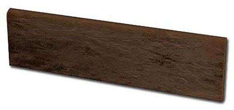 Цоколь левый Ceramika Paradyz Semir Brown структурный 8,1х30 см