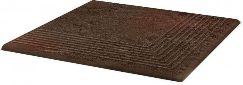 Ступень угловая Ceramika Paradyz Semir Brown структурная 30х30 см